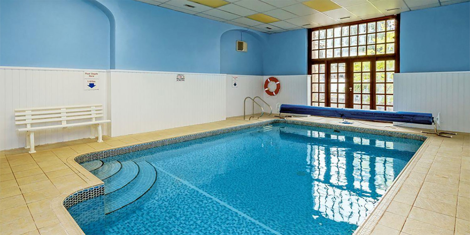 heated indoor swimming pool for guests