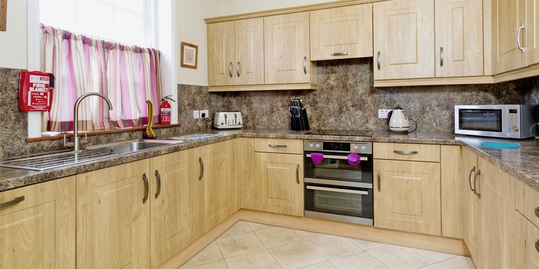 Modern kitchen in annan self catering house